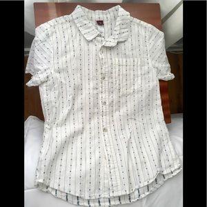 Boys Tea Cotton collared buttondown white & blue